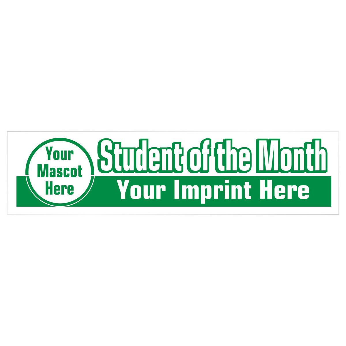 Bumper sticker magnets custom - Custom One Color Bumper Sticker Decal Student Of The Month Mascot