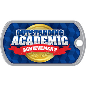 Metal Brag Tags - Outstanding Academic Achievement