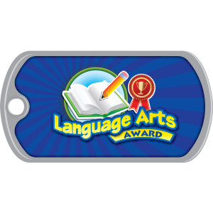 Metal Brag Tags - Language Arts Award