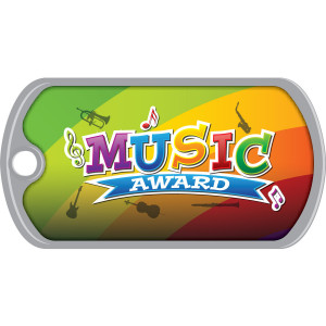 Metal Brag Tags - Music Award
