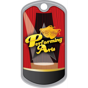 Metal Brag Tags - Performing Arts