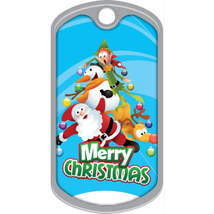 Metal Brag Tags - Merry Christmas