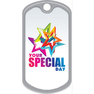 Metal Brag Tags - Your Special Day