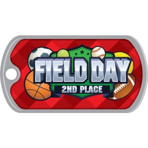 Metal Brag Tags - Field Day 2nd Place
