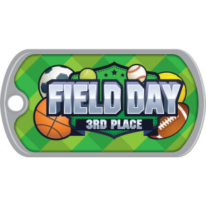 Metal Brag Tags - Field Day 3rd Place