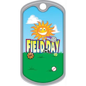 Metal Brag Tags - Field Day