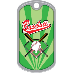 Metal Brag Tags - Baseball