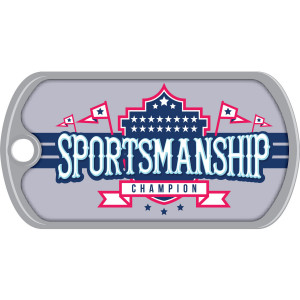 Metal Brag Tags - Sportsmanship, Champion