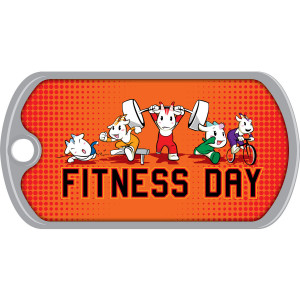 Metal Brag Tags - Fitness Day