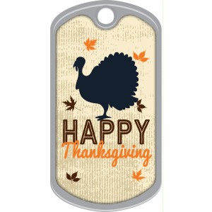 Metal Brag Tags - Happy Thanksgiving