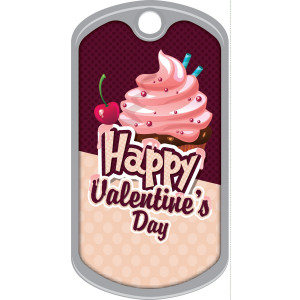 Metal Brag Tags - Happy Valentine's Day
