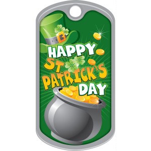 Metal Brag Tags - Happy St. Patrick's Day