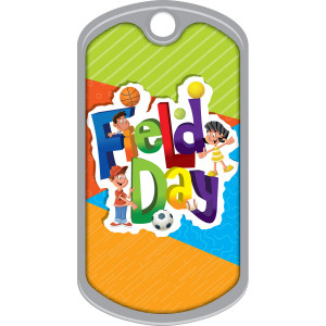Metal Brag Tags - Field Day, Sports