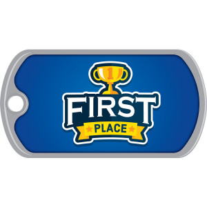 Metal Brag Tags - First Place