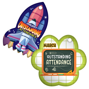 Outstanding Attendance - Fun Theme by Month