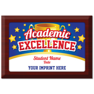 Custom Plate Plaque - Academic Excellence (Trophy)