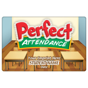 Custom Magnetic Plaque - Perfect Attendance