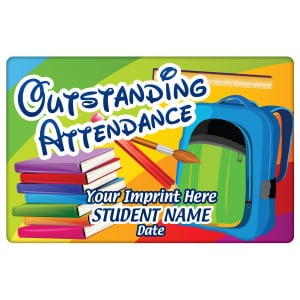 Custom Magnetic Plaque - Outstanding Attendance