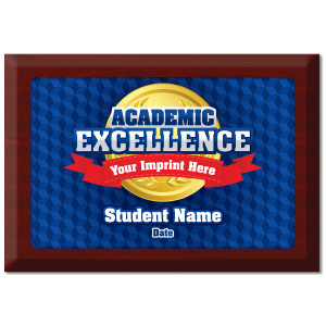 Custom Plate Plaque - Academic Excellence