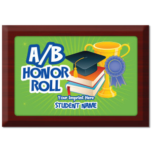 Custom Plate Plaque - A/B Honor Roll