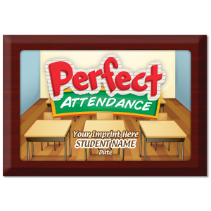 Custom Plate Plaque - Perfect Attendance 4