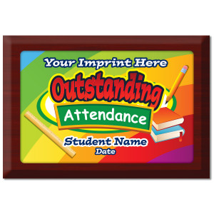 Custom Plate Plaque - Outstanding Attendance