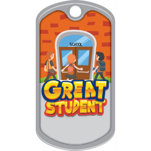 Metal Brag Tags - Great Student