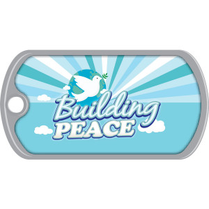 Metal Brag Tags - Building Peace, Dove