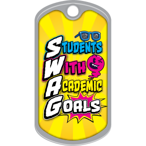 Metal Brag Tags - SWAG Student With Academic Goals